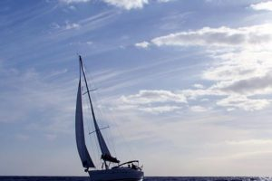 Sunset sailing course